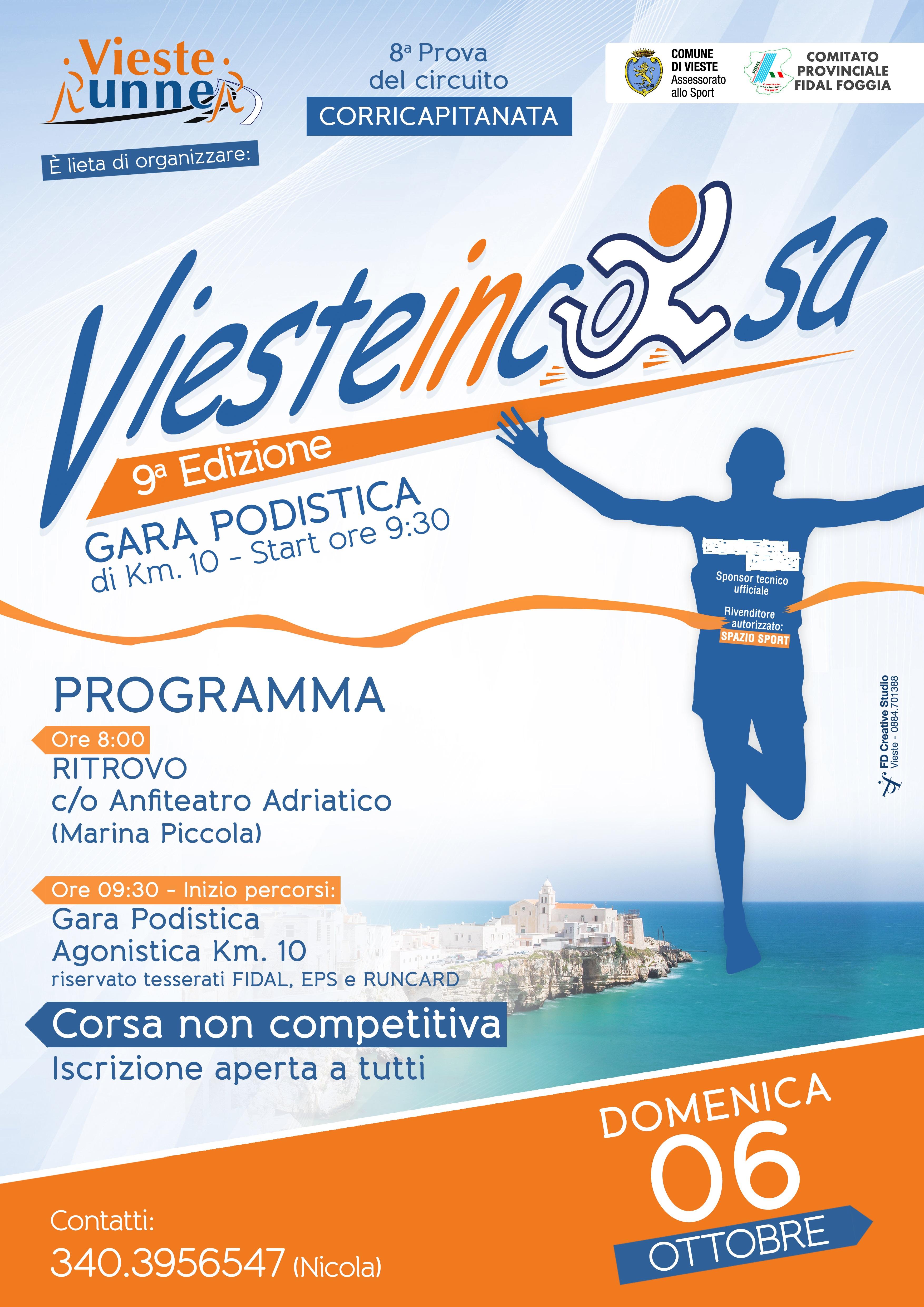 Fidal Sardegna Calendario Gare.Informazioni 9 Vieste In Corsa